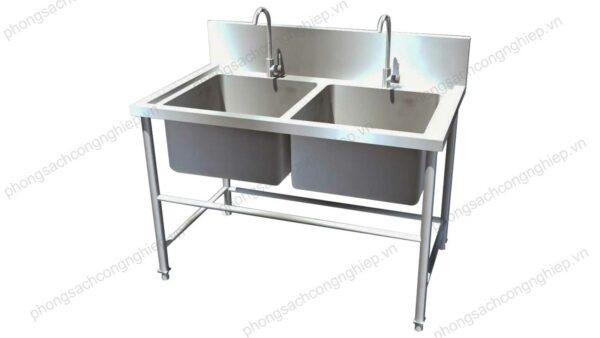 Bồn rửa inox 2 vòi HPTL- SI2BP