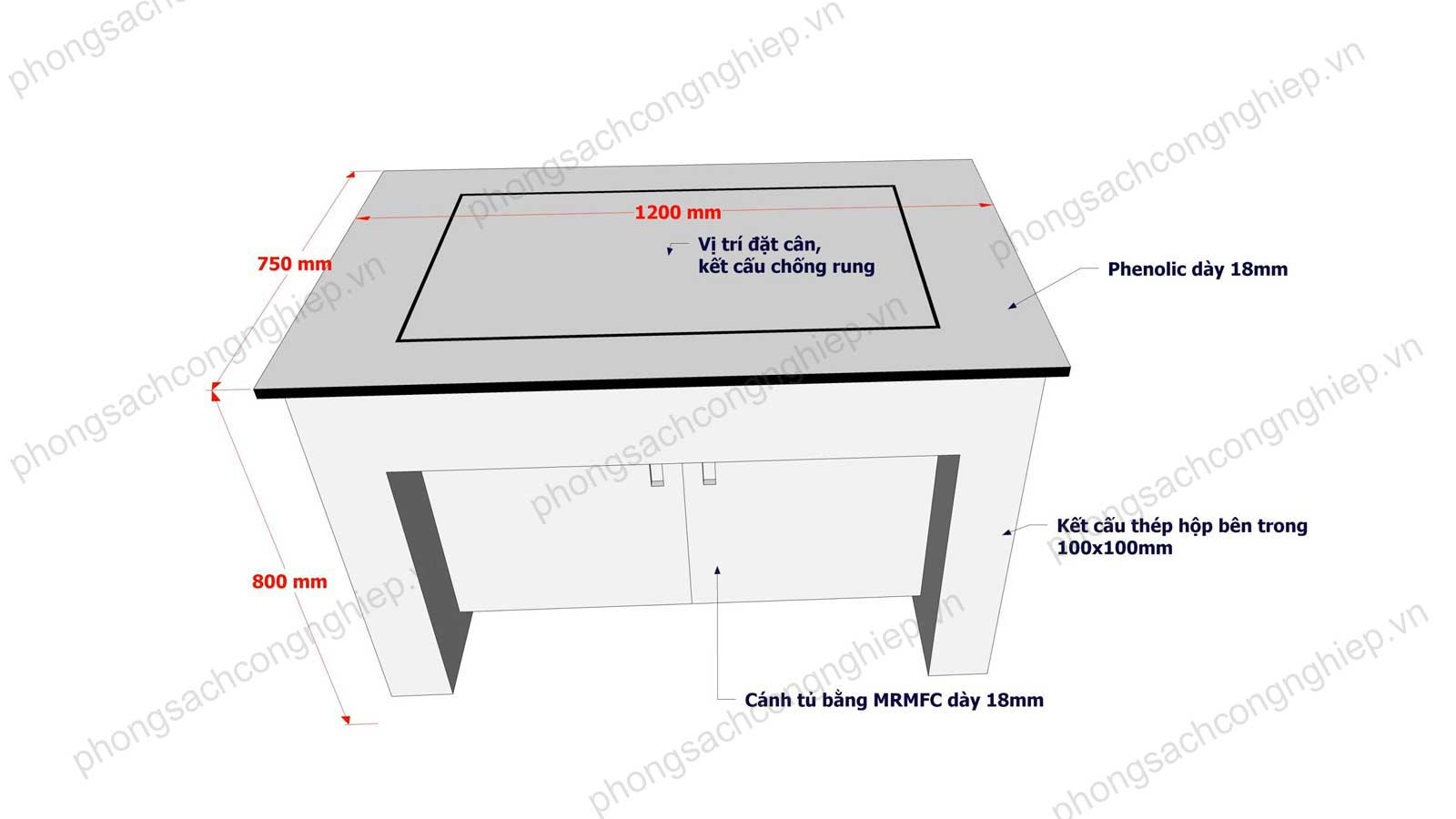 bàn cân chống rung mẫu 2