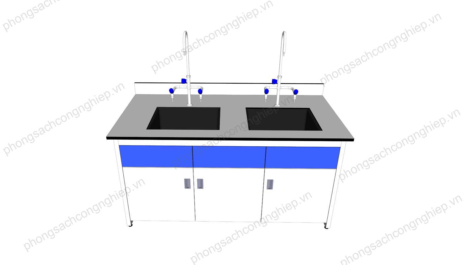 bàn chậu rửa phòng thí nghiệm mẫu 1