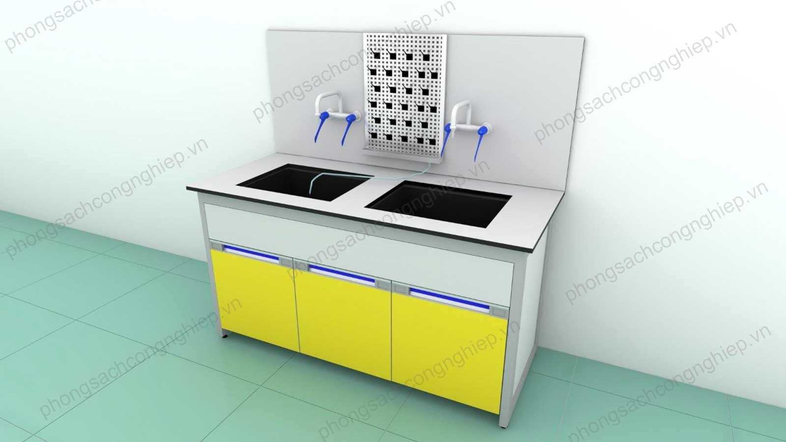 bàn chậu rửa phòng thí nghiệm mẫu 2