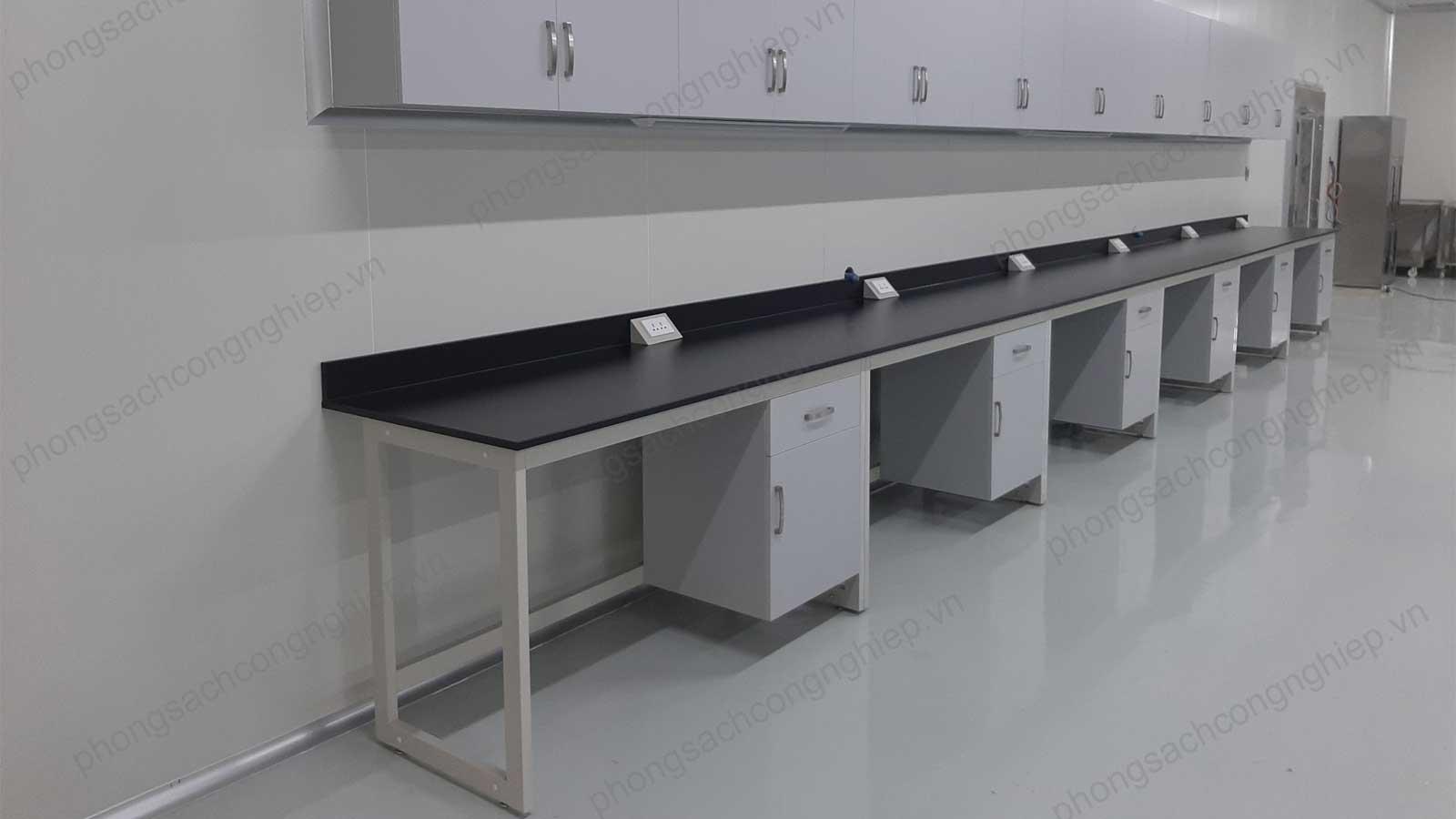 Bàn thí nghiệm áp tường phòng sạch mẫu số 06