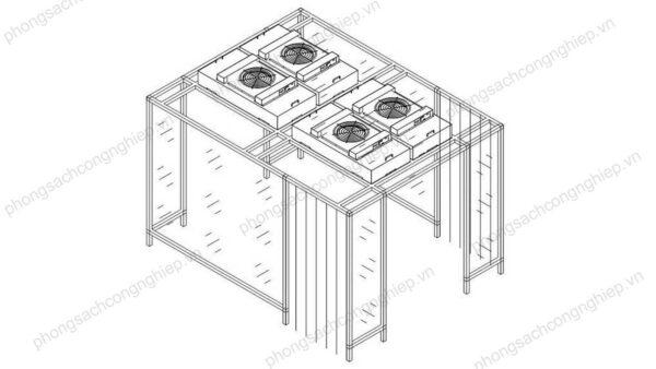 bản vẽ clean booth mẫu HPTL–CB