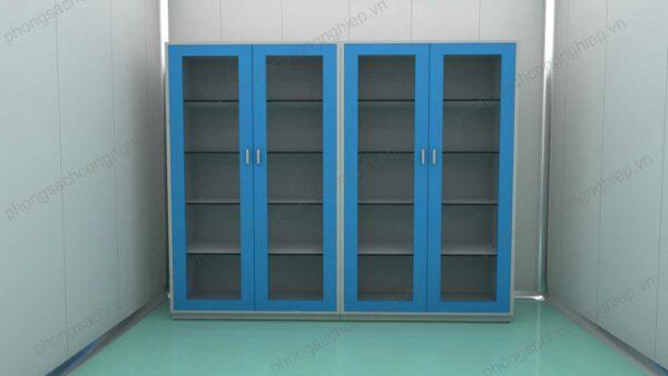 tủ lưu mẫu HPTL cửa màu xanh