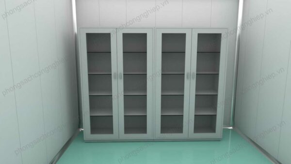tủ lưu mẫu HPTL cửa xám 4 cánh